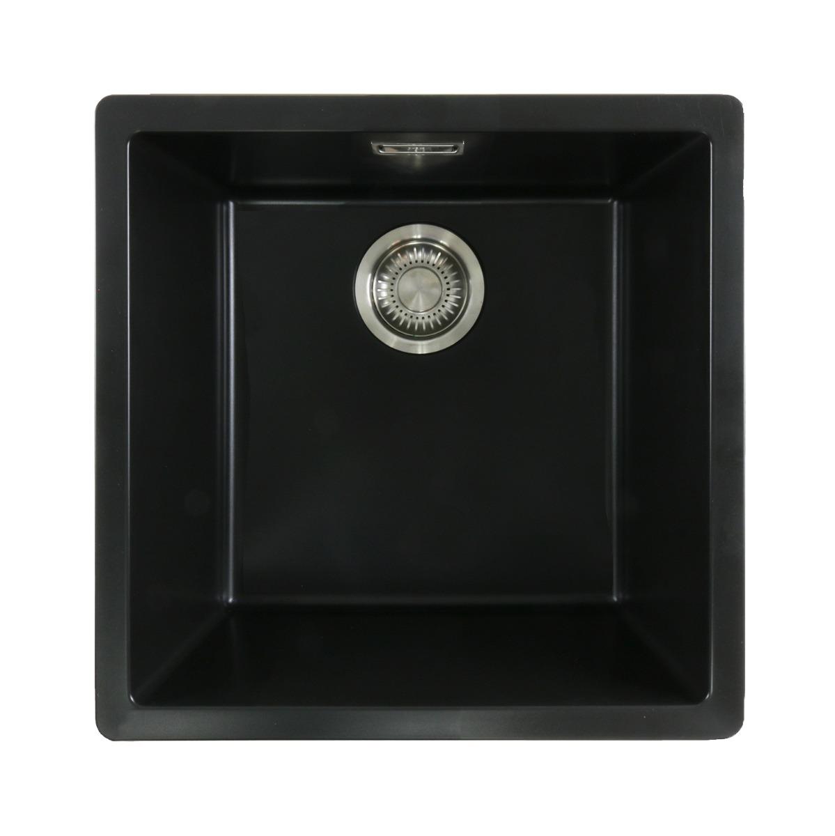 Mizzo Ambro 40-40 spoelbak onderbouw/opbouw – zwart | 8719699304277 | BL400400