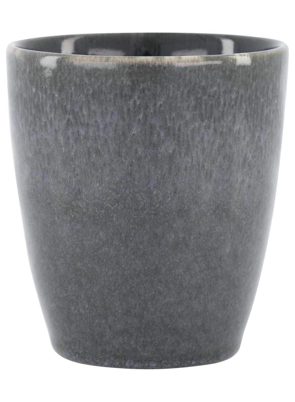 HEMA Mok 8 Cm – Porto – Reactief Glazuur – Zwart (zwart) | 8718537492602
