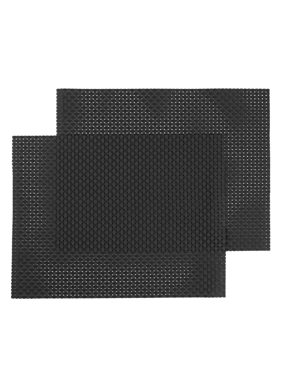 HEMA Placemats – 32 X 42 – Kunststof – Zwart – 2 Stuks (zwart) | 8716618013883