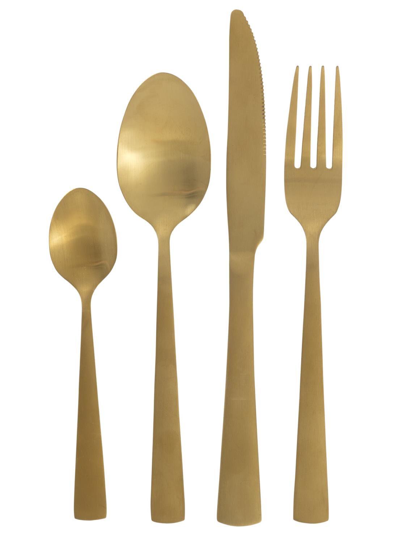 HEMA 16-delige Bestekset Copenhagen Goud (Gold) | 8718161549925