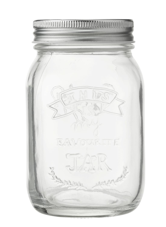 HEMA Glazen Pot 0.5L (transparant)   8716618704989
