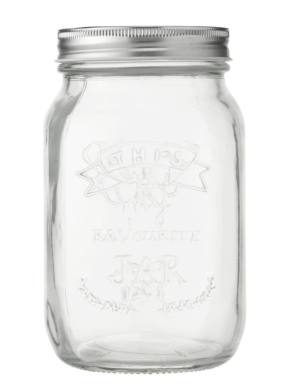 HEMA Glazen Pot 1L (transparant)   8716618704996
