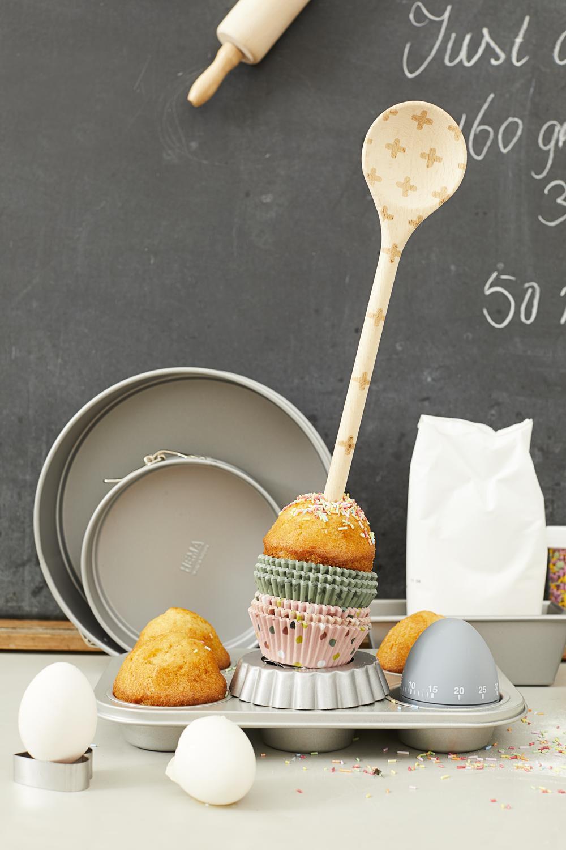 HEMA Mini Muffinbakvorm – 12 Stuks (grijs) | 8718537746217