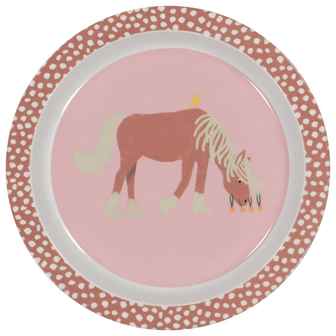 HEMA Ontbijtbord Ø 21.5 Melamine Paard | 8718537934621