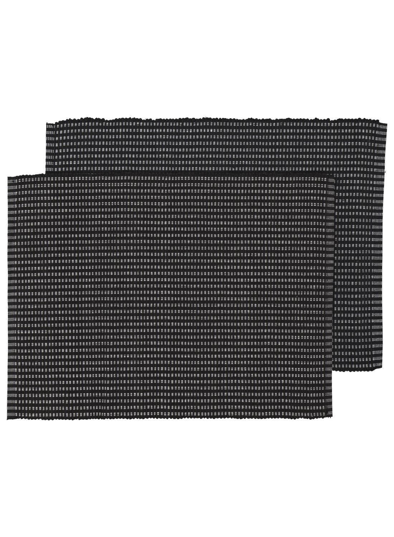 HEMA Placemats – 42 X 32 – Katoen – Zwart – 2 Stuks (zwart)   8718537540525