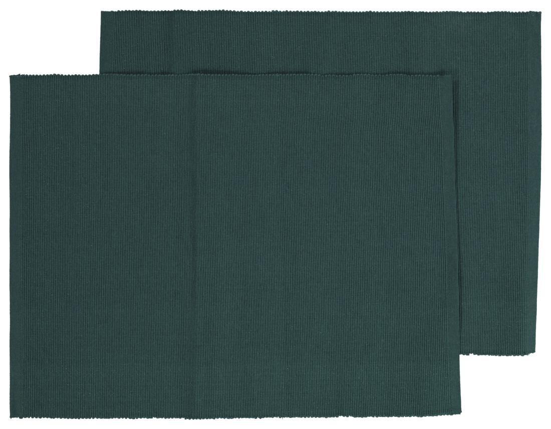 HEMA Placemats Ribbel Katoen 32×42 Groen – 2 Stuks   8718537861965